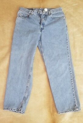 Levis Jeans Mens Size 34x30 Levis 550  Light Wash Tapered Leg High Waisted