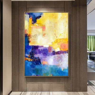 HH349 Modern Room decoration art Concise Abstract oil painting Color art