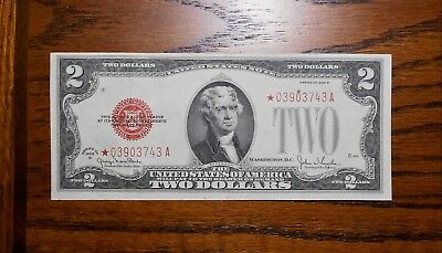1928-G $2 Red Seal ⭐Star Note XF+ ~ decent note