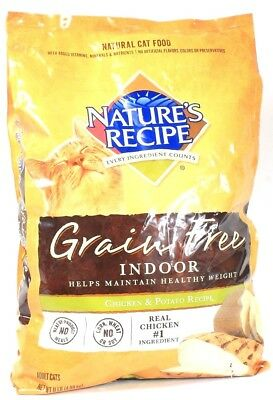 1  Natures Recipe Grain Free Damaged Package Cat Food Chicken Potato 11 LBS