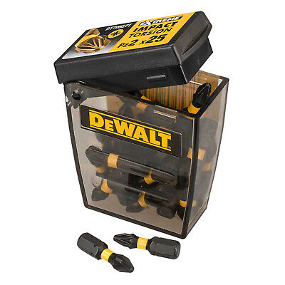 Dewalt DT70556T Extreme Impact Torsion PZ2 Pozi 2 Screw Driver 25mm Bit X 25