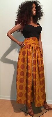 African wax cotton holland print full length skirt,  maxi skirt S-M