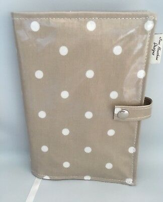 A5 Diary Cover,Journal Cover,Nurses Diary Cover,Week To View Cover,Taupe Spotty