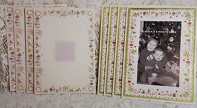 Christmas Photo Greeting Cards Sparkle Glitter PMG Holiday Images Mixed Lot of 8
