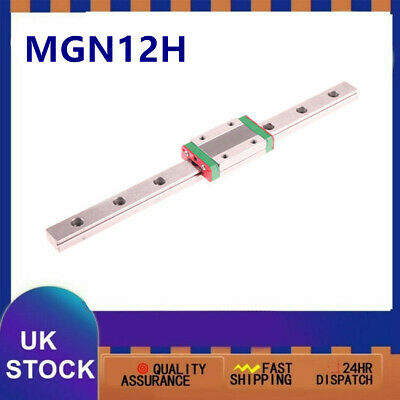 12mm Linear Sliding Rail Miniature Guide 250-550mm + MGN12H Sliding Block CNC