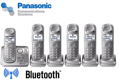 Panasonic Landline Set DECT6.0 Cordless Telephone Wireless Home Phone Silver lot