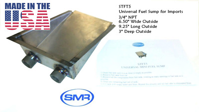 Mini Fuel Tank Sump 16ga. Cold Rolled Steel For Small Fuel Tanks & Most Imports