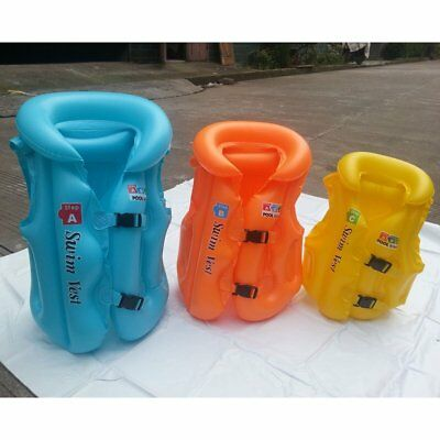 Children Inflatable Pool Float Life Jacket Vest Baby Swimming Safety VesDF