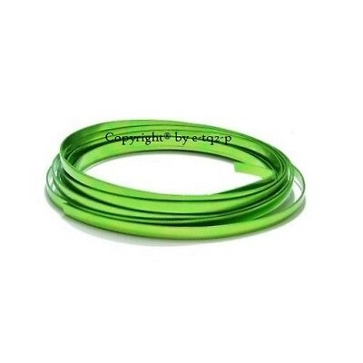 5mm wide LIME GREEN FLAT Aluminium Wire Jewellery findings Wire Jig 3m Length