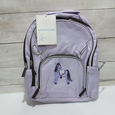 Pottery Barn Kids girls SMALL Fairfax Lavender & chocolate brown HORSE BACKPACK