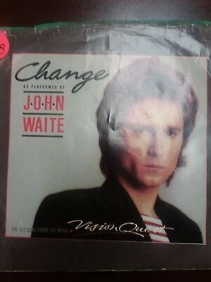 45 Record John Waite Change w Picture Sleeve VG