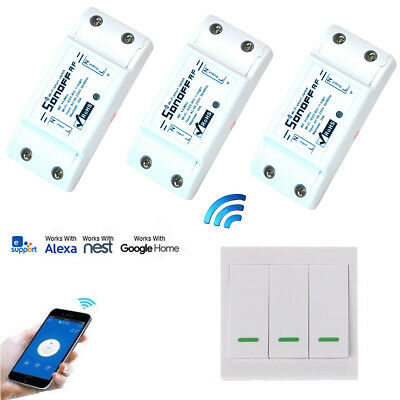 Sonoff RF Wireless Remote WIFI Control Switch Moudle+433MHz 86 Wall Panel switch