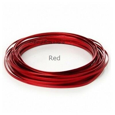 8 Rolls 5mm wide RED FLAT Aluminium Wire Jewellery findings Wire Floral Jig 3m