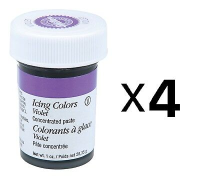 Wilton Violet Food Coloring Concentrated Paste 1 Oz Icing/Cake/Caramel (4-Pack)