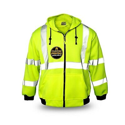KwikSafety PATROL Class 3 Fleece Hoodie ANSI Anti Pill Fabric Safety Jacket