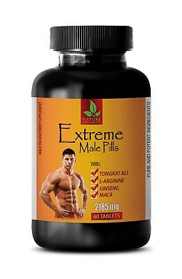 energy booster - EXTREME MALE PILLS 2185mg - ginseng plant - 1 Bottle