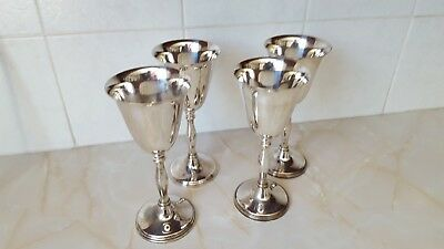 4 cavalier silver plated goblets