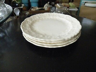Set of 4 RARE Pope Gosser ROSE POINT Bread and Butter Plates Steubenville