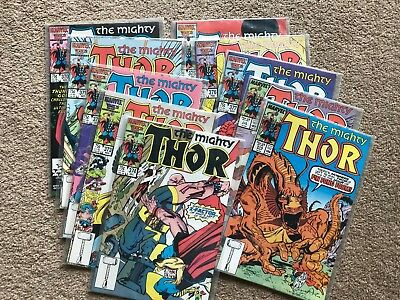 THOR (Marvel Comics) 370 371 372 373 374 375 376 377 378 379 (1986) - NM