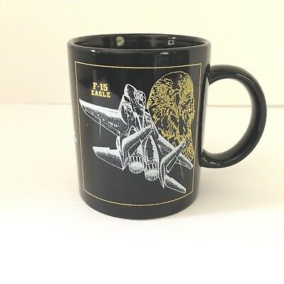 Military F-15 Eagle Mug Cup Coffee Tea Made 1980's Military