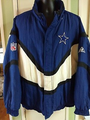 DALLAS COWBOYS VINTAGE Apex One Pro Line NFL Jacket Coat Size XL VTG ... a2230deaf