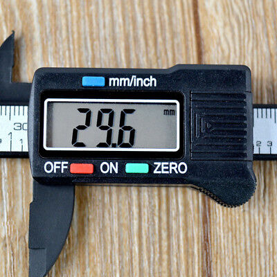 "Digital Electronic Gauge Plastic Steel Vernier Caliper 150mm 6"" Micrometer Fine"