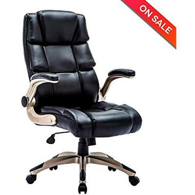 Ergonomic Kitchen & Dining Features High Back Leather Office Chair - Adjustable
