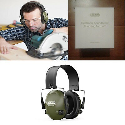 Hearing Protection Shooting Earmuffs Blocking Sound DrMeter EM200 Army Green NEW