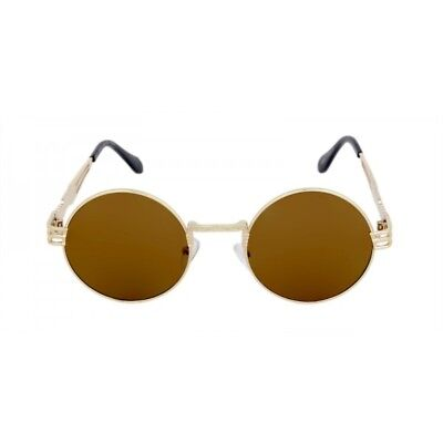 131101c62041 Oversized Round Classic Luxury Sunglasses Lennon Circle Steampunk Hip Hop  Brown