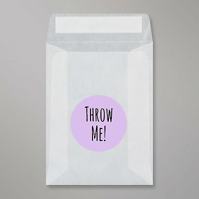 Glassine Bags & Throw Me Amatic stickers For Wedding Confetti peel and seal