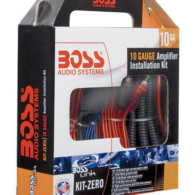 BOSS KITZERO AUDIO Boss Complete 10 Gauge Amplifier Installation kit