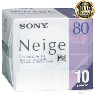NEW SONY 10MDW80NED mini disc 80 minutes 10 pieces set genuine from JAPAN