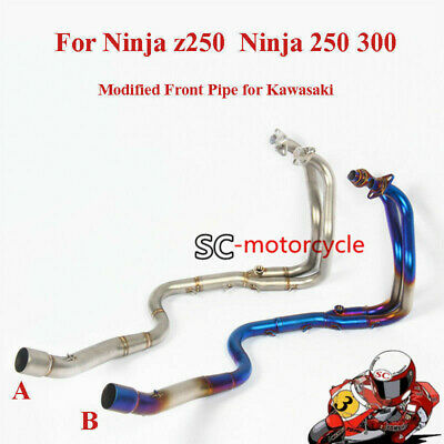 Modified Exhaust Front Pipe Stainless Steel Pipe For Ninja z250 Ninja 250 300