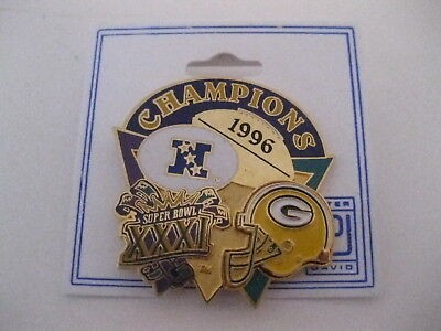Green Bay Packers 1996 NFC Champions Superbowl XXXI Hat Lapel Pin Free Shipping!