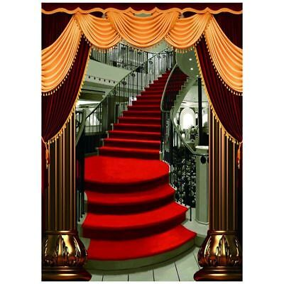 5x7FT Red Carpet Stairs Photography Backdrop Customized Photo Background St E1A9