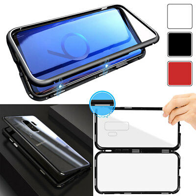 360° Magnetic Adsorption Frame Glass Case For Samsung Galaxy S8 S9 Plus Note 8