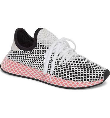 cdb05946263bd Womens Adidas Originals Deerupt Runner Sneaker Core Black Pink Cq2909 Size 6