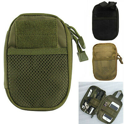 Outdoor Tactical Molle Medical First Aid EDC Pouch Phone Pocket Bag Organizer