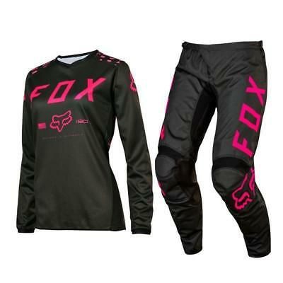 Fox Racing YOUTH Girls 180 Off Road MX Gear Set Black Pink Y-Large / 26y