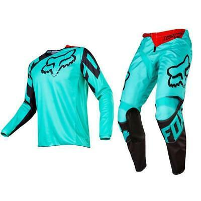 Fox Racing Adult 180 Race Off Road MX Gear Set Green Black Red 2XLarge / 36