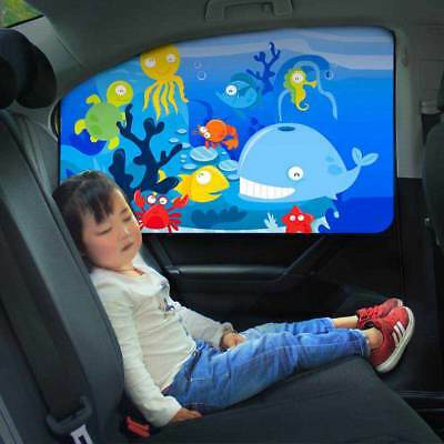 Universal Car Sun Shade Magnetic Curtain Cartoon Children Window Sunshade Cover
