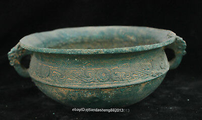 Certified 100% Chinese  Ancient Bronze Ware teapot Big Bowl box Statue