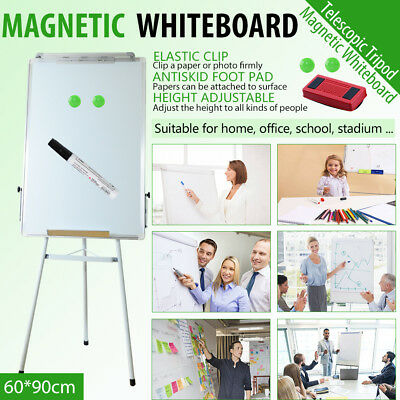 60x90cm Portable Stable Magnetic Easel Whiteboard with Telescopic Tripod Stand