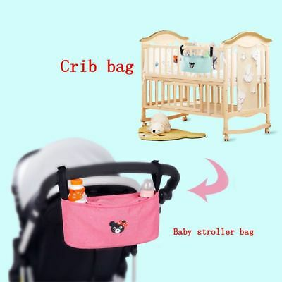 Baby Pushchair Pram Organiser Stroller Buggy Storage Bag Bottle Holder Organizer