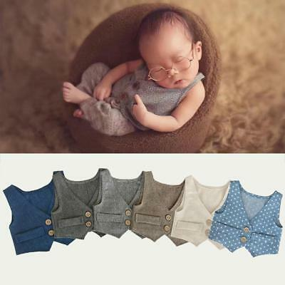 Newborn Baby Photography Vest Photo Props Clothes Fashion Wool Vest Cloth pro