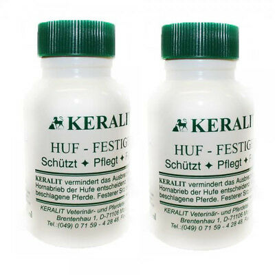 Keralit Huffestiger 2 x 250ml in Twin Pack Incl. Brush Stability for the Hoof