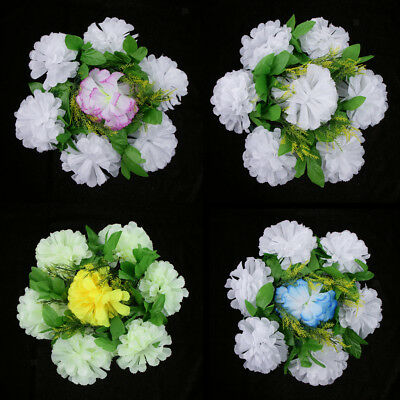 Chrysanthemum Silk Flower Funeral Memorial Graveside Tribute Flower Wreath 30cm