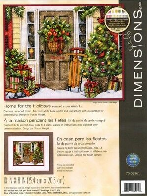Cross Stitch Kit ~ Dimensions Home for the Holidays Christmas Porch #70-08961