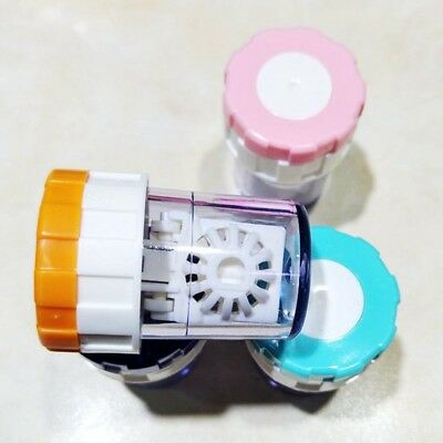 Contact Lens Cleaner Case Box Manual Rotation Type Plastic Container For Travel