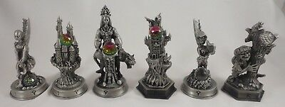 Lot Of 6 Danbury Mint The Fantasy Of The Crystal Chess Pieces